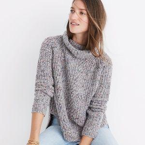 NEW Madewell Colorfleck Ribbed Turtlneck Sweater S